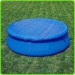 Ruluti Round Piscine Couverture Easy Set Up Anti-poussière Piscine Étanche Couverture Set pour Ronde Au Dessus du Sol Gonflable Piscines Jardin Piscine
