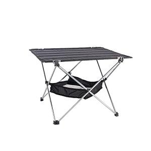 SDLSH Table de pique-nique pliante en alliage d'aluminium, facile à installer, pliable, stable et stable, adaptée pour l'extérieur, pique-nique, plage, randonnée, etc.