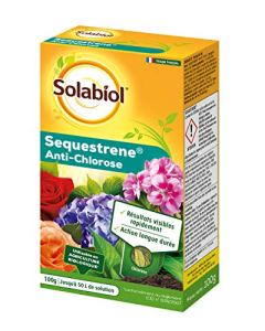 SOLABIOL SOSEQ01 Sequestrene Antichlorose 100 G | Résultats visibles rapidement | Action longue durée | Fabriqué en France | Utilisable en agriculture biologique
