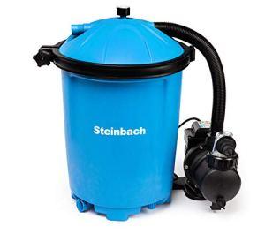 Steinbach Speed Clean Comfort Filtre à Sable Balles filtrantes incluses BIS 26.000 l Wasserinhalt Bleu