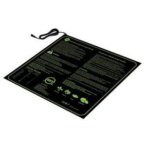 Tapis Chauffant pour semis 20×20 Pouces Tapis de Germination de graines de Plantes imperméables (Noir UE)