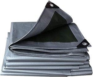 Tissu de pare-soleil, Tissu d'ombrage 3m x 3m / 10ft x 10ft Tarpaulin imperméable robuste – Tôle d'argent universelle – Couverture de qualité supérieure en 180 grammes / mètre carré bâche (taille: 3 ×