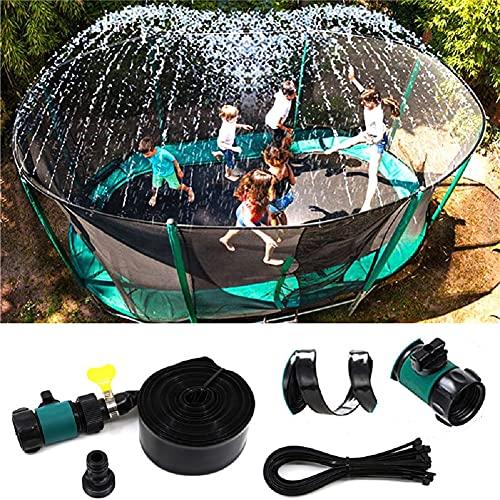 Trampoline Sprinklers, Outdoor Water Park Sprinklers, Trampoline Sprinkler Hose Water Sprayer, Fun Outdoor Games for Kids, Summer Water Sprayer Sprinklers for Fun Garden (15m/49 ft)