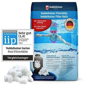 Veddelholzer Pool Filter Balls – le matériau le plus léger pour la meilleure performance – remplace 25 kg de sable filtrant sable de quartz – Accessoires de piscine – Nettoyeur de piscine