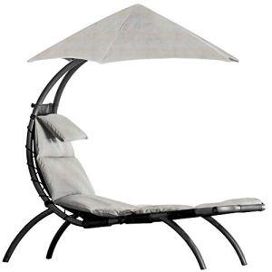 Vivere DRMLG-CS Original Dream Lounger Chaise Longue Acier Cast Silver 177 x 76 x 117 cm