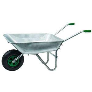 WerkaPro 10374 – Brouette en Acier Galvanisé – Charge Max 200 Kg – Idéale pour le jardinage et la maçonnerie