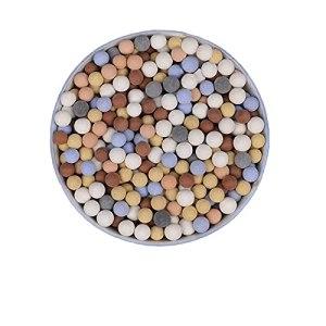 WGSZDA Colored ceramsite,ulticolor Ceramsite Gardening Decor,Carbon Ceramic Ball Soilless Culture Hydroponic Plants Micro Landscape,Clay Pebbles Gardening ceramsite hydroponic (0.6 cm +1 cm,1000g)