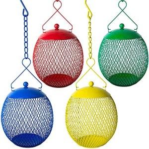 XCYY 4PCS Courtyard Fearer Bird Cages Berrie Hummingbird Cage Cage Cage Jardin Bols Et Bols Villa Bird American Caméra (Color : 4PC)