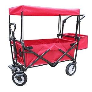 XXHDEE Chariot de Camping Pliant extérieur Chariot de Camping Chariot de Jardin Chariot de Pliable à 4 Roues, Chariot de Jardin Portable et Chariot Bricolage, remorque de Transport à Main Portable