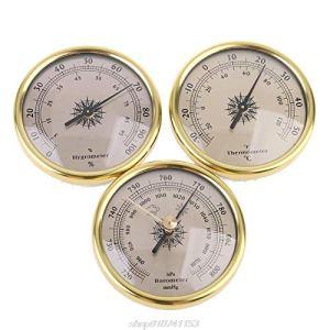 YHDNCG Baromètre, baromètre, thermomètre, hygromètre, baromètre encastré à fixation murale, mesure de la température