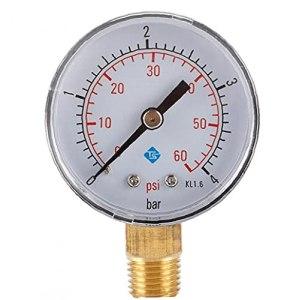 1pc Pression Comparateur 60psi Testeur De Pression Filtre Piscine Spa De Pression Hydraulique Manometre Piscine