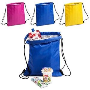 ANTEVIA – Lot de 3 sacs isotherme 27 x 33cm | PLUS DE 10 MODÈLES | Glacière | Matière: Polyester 210D |Couleur : Violet Bleu Jaune (Tradan)