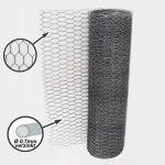 Aquagart Grillage en métal, hexagonale, galvanisé, pour clôture de poulets et de lapins, à mailles fines, 13 x 13mm, à 6coins, 0,7mm
