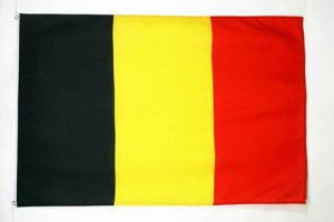 AZ FLAG Drapeau Belgique 150x90cm – Drapeau Belge 90 x 150 cm – Drapeaux