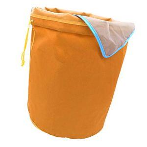 B Blesiya Ice-O-Lator Bubble Bag- 5 Gallon-8 Sac- Glace Herbacé Sac De Mousse à Hachage Huile Sac D'extraction – Orange-120 microns