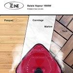 Balai à Vapeur Rouge- 7 LINE – 1500W – 3 accessoires fournis – réservoir d'eau 350ml – 5m de fil