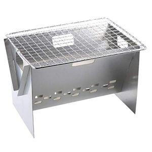 Barbecue Portable, Mini Barbecue Pliant Portable En Acier Inoxydable Au Charbon De Bois, Outil De Barbecue Pour Pique-nique En Plein Air, Patio, Arrière-cour, Cuisine, Camping