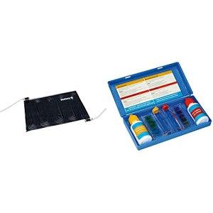 Bestway – Réchauffeur Solaire pour Piscine, Noir, 1,10 m x 1,71 m & BSI Test Kit Teste d'eau Piscine