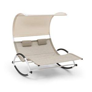 blumfeldt Brentwood Double Rocker Chaise à Bascule – Duo Design pour 2 Personnes, Plan de Couchage Ergonomique, Forme de Vague élégante, accoudoirs avec Mousse, Matière: ComfortMesh