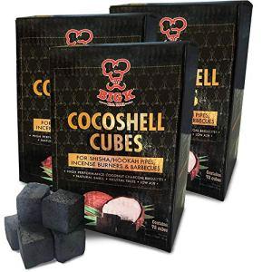 Boîte de briquettes de Charbon de Bois de cocoshell pour canalisas à narguilé, brûleurs d'encens et barbecues 1 kg Noir