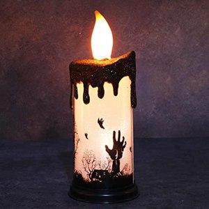 Bougies LED sans flamme – Décoration d'horreur électrique – Fausse lumière – Accessoires d'Halloween pour bar, fête, danse