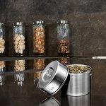 Bruntmor Contenants à condiments étanches pour sauces, vinaigrettes, épices, confitures, sauces, noix et plus (lot de 3) 2 oz. argent