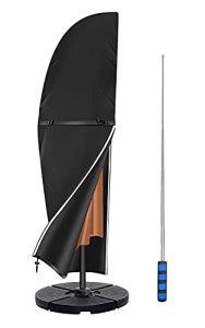 Callni Housse de protection pour parasol déporté de 2 à 4 m – Avec tige – Imperméable – Résistant aux intempéries – Résistant à la déchirure Oxford 600D résistant à la déchirure 280 – 81 x 30 x 46 cm