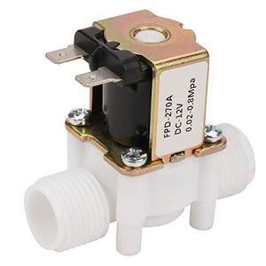 CC 12V G1 / 2″ Vanne électromagnétique pour l'Eau Vanne électromagnétique d'Admission électrique en Plastique pour l'Eau