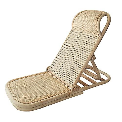 Chaise De Plage En Rotin Chaise De Plage Pliante En Rotin Faite à La Main Avec Dossier Chaise De Loisirs Multifonctionnelle Portable