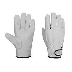 Dan&Dre Gants de camping résistants à la chaleur, gants en cuir, gants résistants à l'usure, gants de travail en plein air