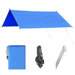 DKaony Bâche de Camping, hamac, Tente de Pluie, Tente d'extérieur, bâche imperméable à l'Eau, Protection UV, Tente de Plage, Parapluie léger pour Pique-Nique, randonnée, extérieur