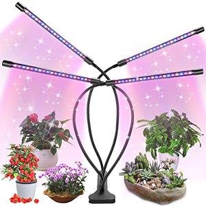 Fauna Lampe de croissance LED pour plantes d'intérieur, minuterie marche/arrêt automatique à spectre complet, 3/6/12h, 5 niveaux d'intensité pour maison, jardin, hydroponie, culture de succulentes