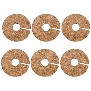 FIDALIKA Naturel Noix De Coco-Fibres Tapis De Protection des Arbres De Protection des Arbres, pour La Planète D'arbres Couverture De La Plante À Disque Couvre-Plante De Jardinage (Color : 6pcs)