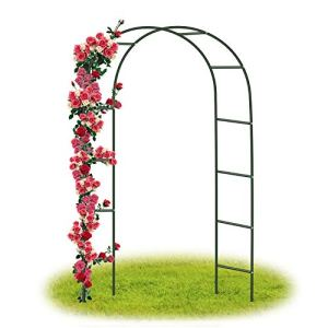 Forever Speed Arche Jardin/Mariage Arche Arceau à rosiers Tuteur Colonne de Jardin,Jardin métal Arche Plantes Grimpantes Métal 240 x 140 x 38 CM/ Vert