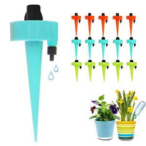 FRECOO Goutte à Goutte Bouteille, Arrosage Plantes Automatique Irrigation Goutte à Goutte avec vannes de régulation débit d'eau réglable, pour Jardin intérieur et extérieur (15Pcs)