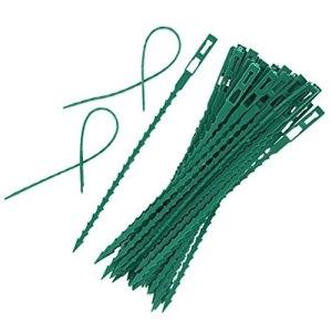 FSDELIV Paquet de 50 Attaches de câble Vertes – Enveloppes d'attaches de qualité supérieure – Attache de Jardin à Sangles Vertes polyvalentes pour Glissement de Terrain de 17 cm
