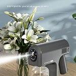 GD-09pulvérisation portable sans atomisation par induction du corps humain maison voiture hôtel automatique nano pistolet de pulvérisation de désinfection atomisation pulvérisateur, adapté po-Grey