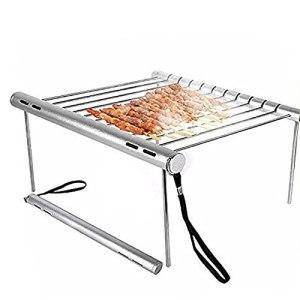 Grillades au charbon en acier inoxydable pliable UN BARBECUE Grill rack portable camping mini UN BARBECUE Barbecue Barbecue Barbecue UN BARBECUE Grills Outils de cuisine
