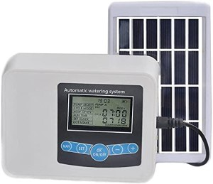 GXT Tuyau d'eau Timètre extérieur, Alimentation Solaire/USB, réglez l'horloge, Le Temps d'arrosage et l'intervalle, système d'arrosage Automatique pour Plantes en Pot Extérieur (Size : 1)