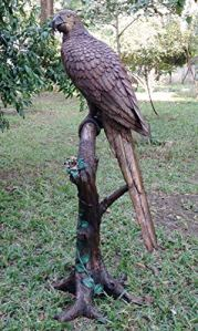H. Packmor GmbH Sculpture bronzée sur Tronc d'arbre Assis