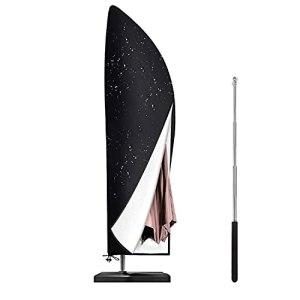 Housse de parasol avec tige de contraction, Étanche, Résistance au Vent,Anti-UV, résistant à la déchirure en tissu Oxford extra banane Housse de parapluie avec fermeture éclair (265×50/70/40cm)