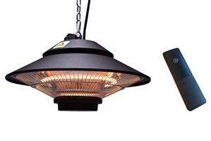 ICQN Chauffage de plafond | télécommande | Chauffage de terrasse | IP44 avec housse de protection | Parasol chauffant | Chauffage de plafond infrarouge | Chauffage de balcon