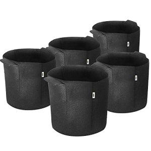 iPower Conteneur d'aération avec poignées pour Jardin et Plantation, Noir, 17 litres