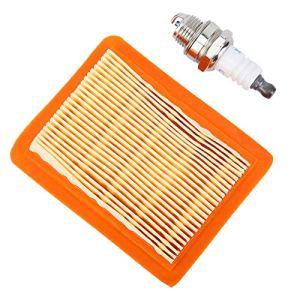 Jeanoko Filtre à air + bougie d'allumage Kit d'entretien durable, non authentique pour débroussailleuse Stihl