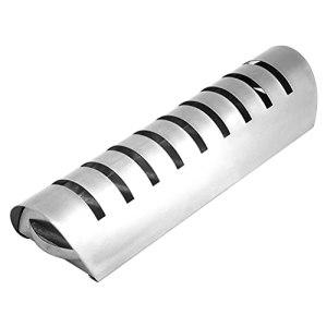 JSSEVN Tube de fumage rectangulaire en acier inoxydable 30 cm pour barbecue à gaz et au charbon