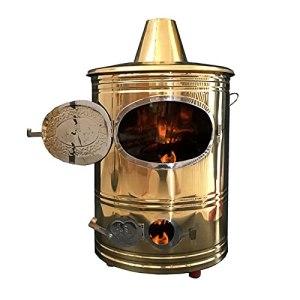 JUNKUN Incinérateur Professionnel Conception de cheminée d'incinérateur en Acier Inoxydable Matériau en Acier Inoxydable Conception Jaune doré utilisée pour brûler Les Feuilles d'ordures ménagères