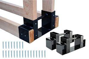 Kit de support de rangement pour bois de chauffage – Réglable à n'importe quelle longueur