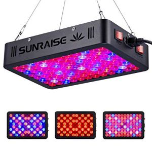 Lampe de culture LED 1000 W Spectre complet pour plantes d'intérieur Veg et fleur SUNRAISE LED avec chaîne de marguerite triple puces LED (15 W)