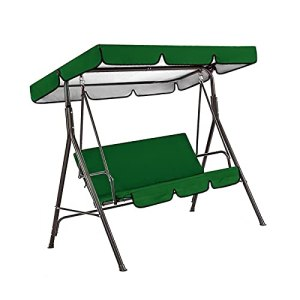 LFOZ 2pcs / Set Chaises de Jardin Chaises de Jardin Patio Swing Cover Set Étanche Swing Swing Auvent Swing Couverture du siège + Couverture de siège (Color : Coffee)