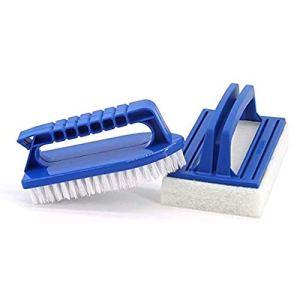 Lifreer Kit d'accessoires de nettoyage pour jacuzzi comprenant une brosse à récurer, une brosse de nettoyage pour les spas et le nettoyage de jacuzzi